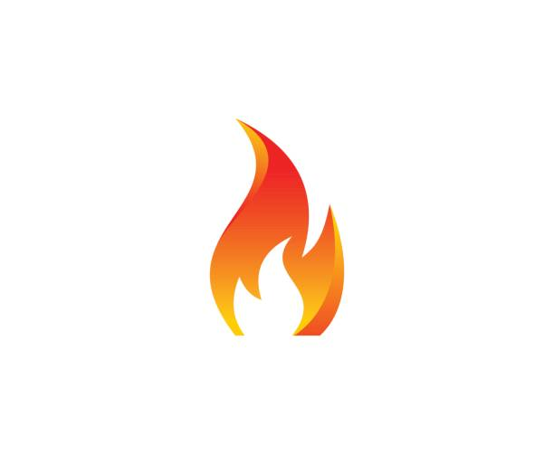 fire icon - fire stock illustrations