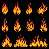A set of various fire icons