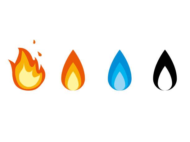 bildbanksillustrationer, clip art samt tecknat material och ikoner med brand icons1 - flames