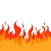 fire illustration cartoon style vector