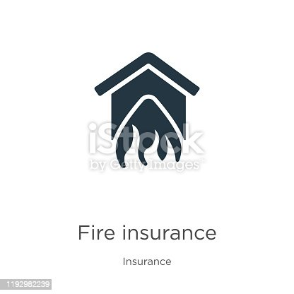 Fire insurance icon vector. Trendy flat fire insurance icon from insurance collection isolated on white background. Vector illustration can be used for web and mobile graphic design, logo, eps10
