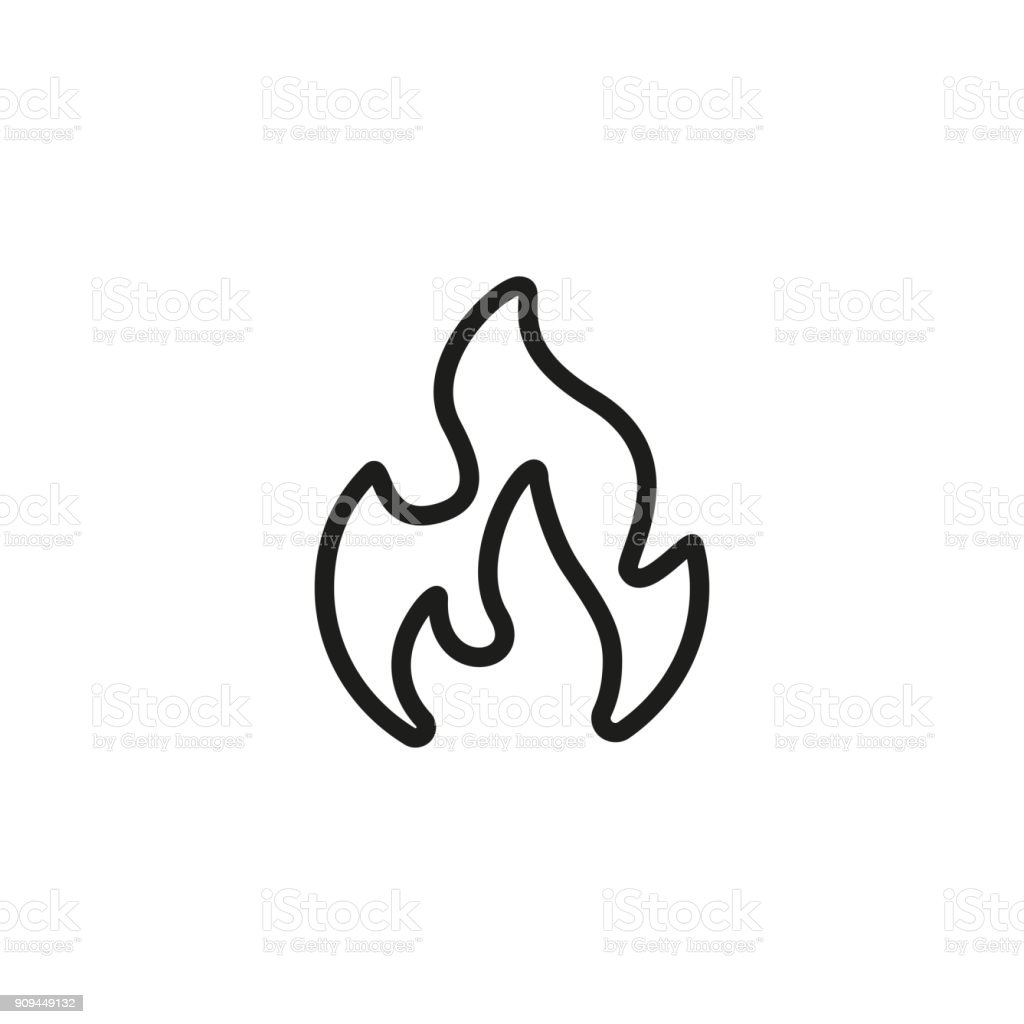 Fire Line Icon vector art illustration