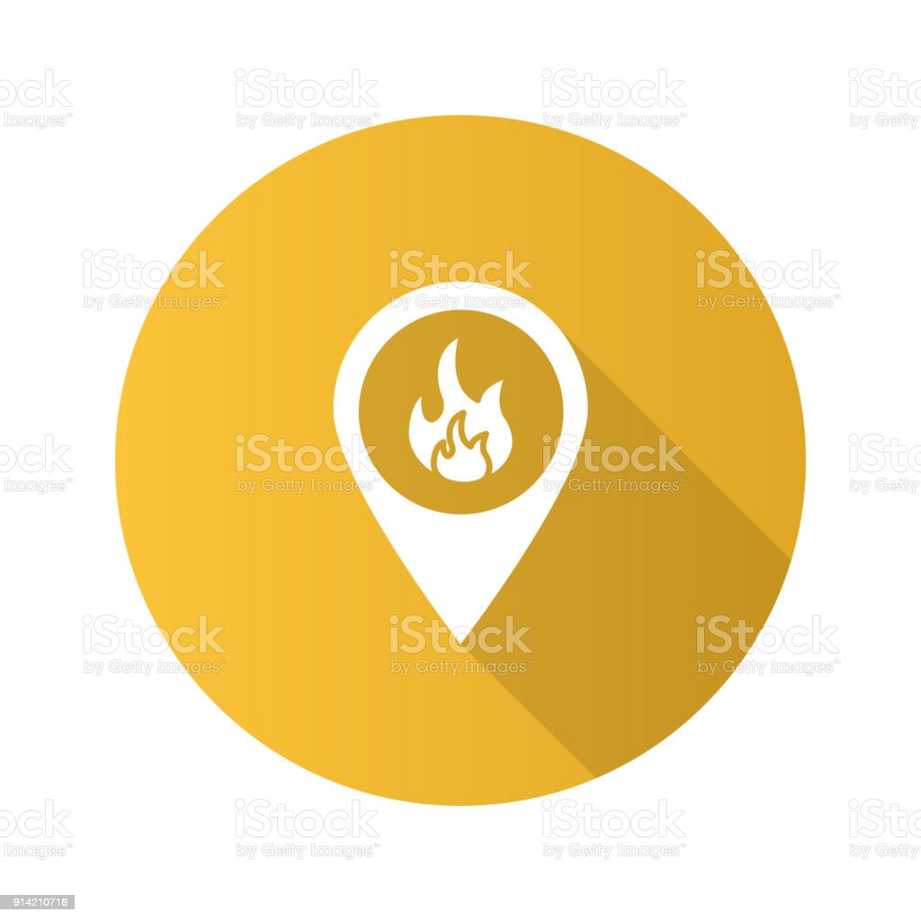 Icone Localisation icone de localisation de feu – cliparts vectoriels et plus d'images