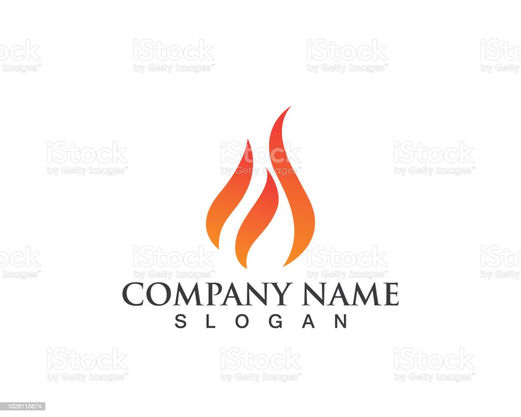 Fire Logo And Symbol Hot Stock Illustration - Download Image
