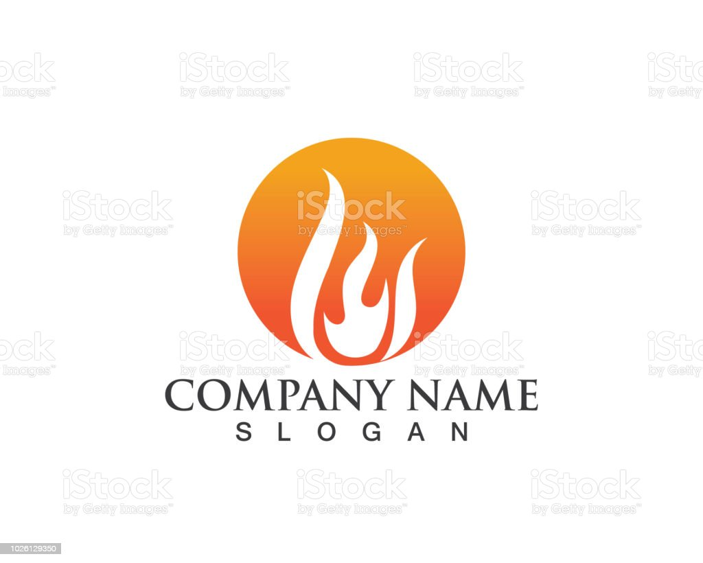 Fire Logo And Symbol Hot Stock Vector Art & More Images of Abstract