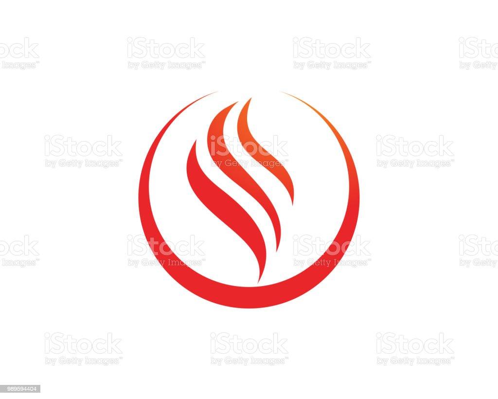 Fire Logo Template Vector Icon Oil Gas And Energy Logo Concept Stock