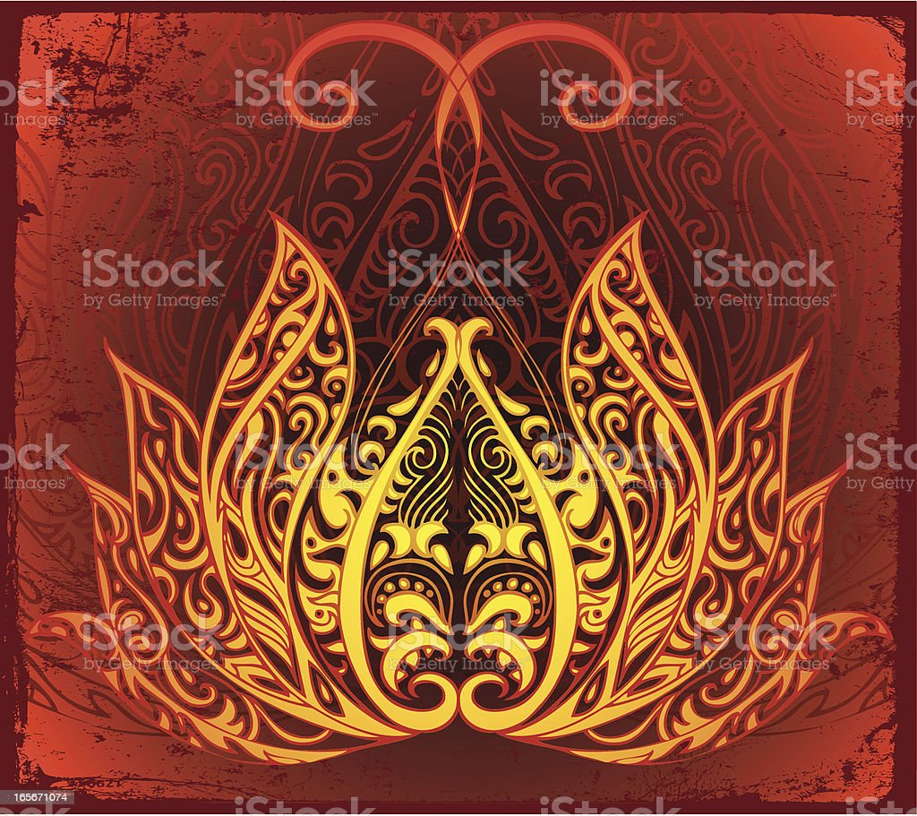 fire lotus opening royalty-free fire lotus opening stock vector art & more images of blossom
