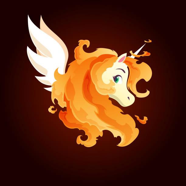 Fire Unicorn Illustrations, Royalty-Free Vector Graphics ...