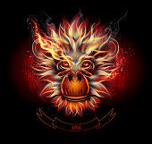 Fire Monkey's Head