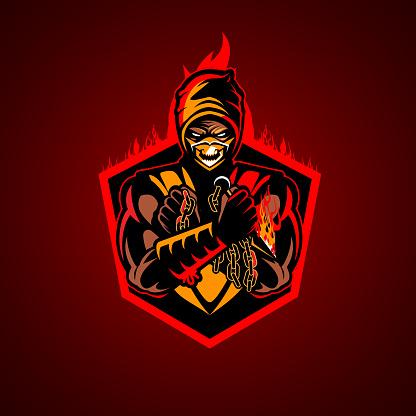 Fire Ninja vector illustration insignia