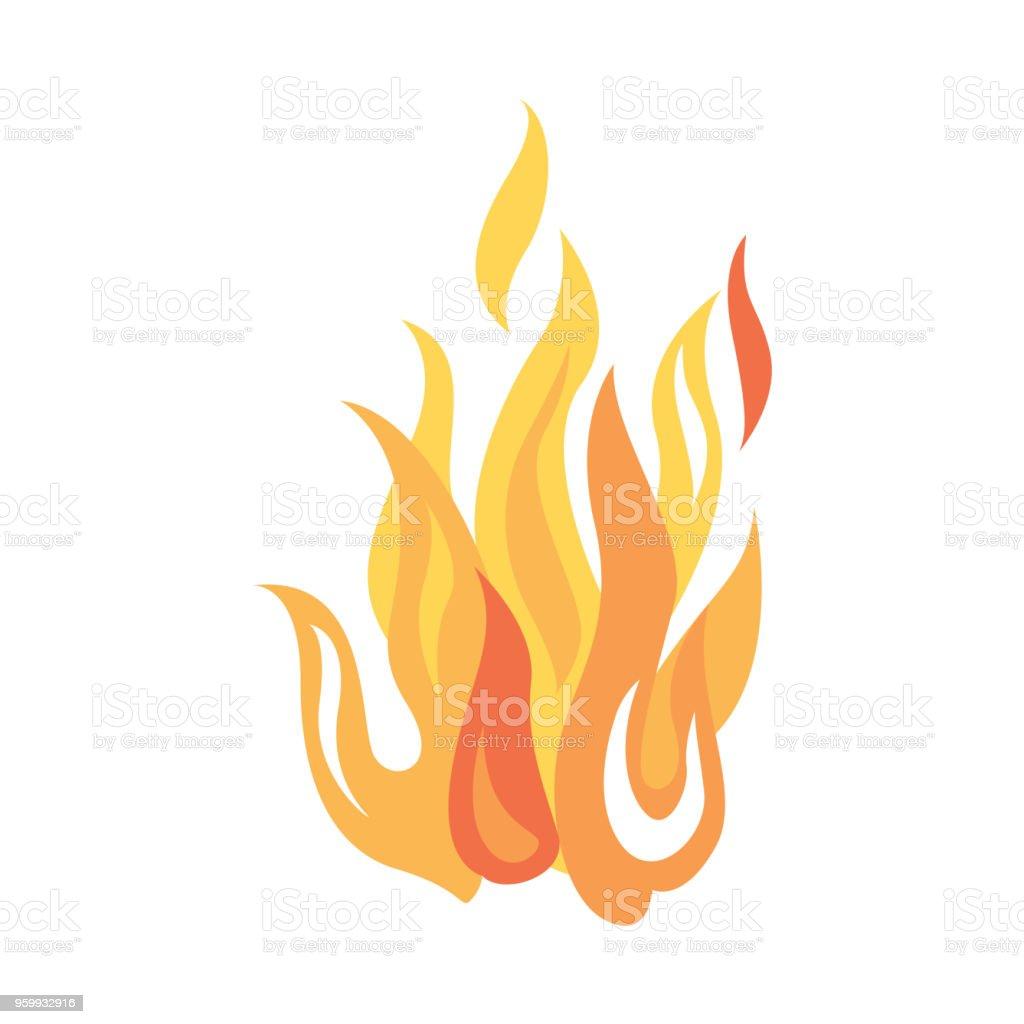Eldhärd eller eldslåga - Royaltyfri Abstrakt vektorgrafik
