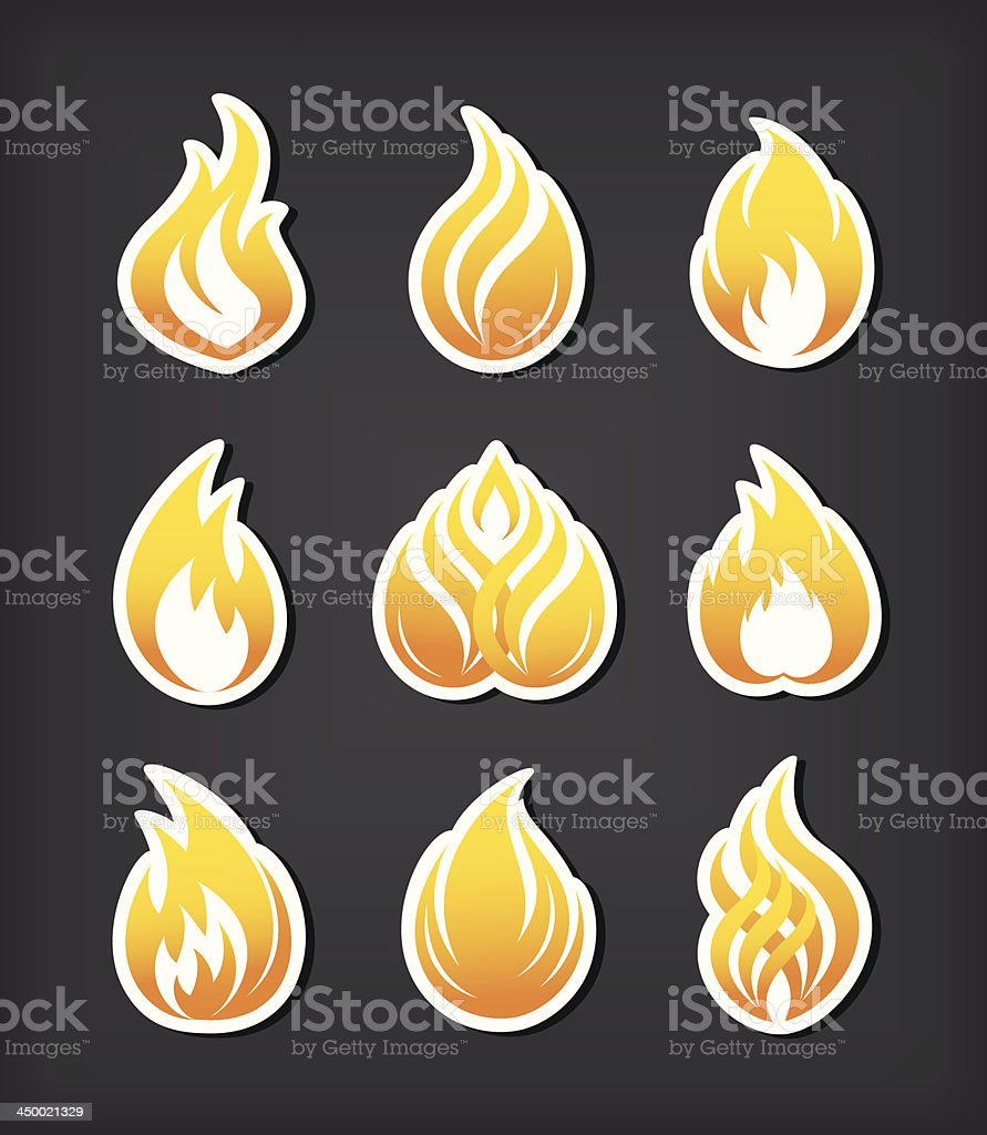 Fire paper cut icons set royalty-free fire paper cut icons set stock vector art & more images of abstract