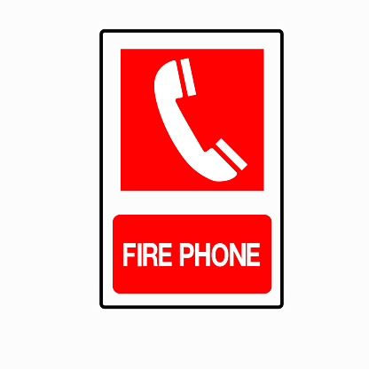 Fire Phone Symbol Sign, Vector Illustration, Isolate On White Background Label. EPS10
