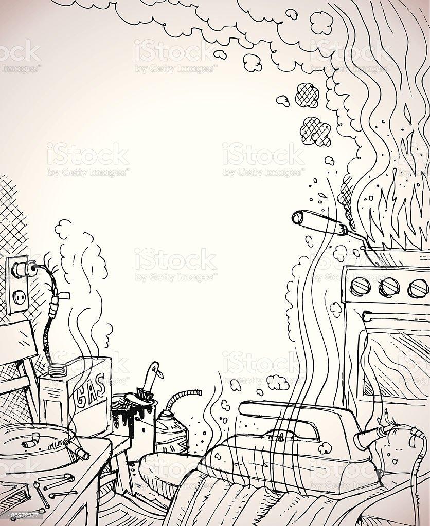 Fire Prevention vector art illustration