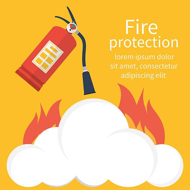 illustrations, cliparts, dessins animés et icônes de fire protection vector - mousse d'emballage