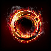 Circle of fire. EPS 10 file