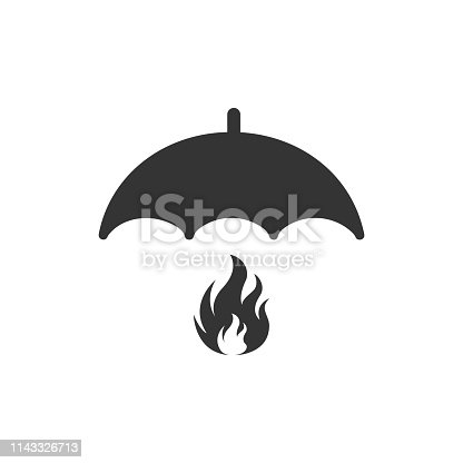 Fire safety icon vector illustration. Fire insurance icon.