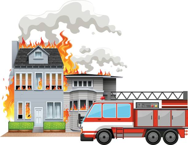 Best Burning House Illustrations, Royalty-Free Vector ...
