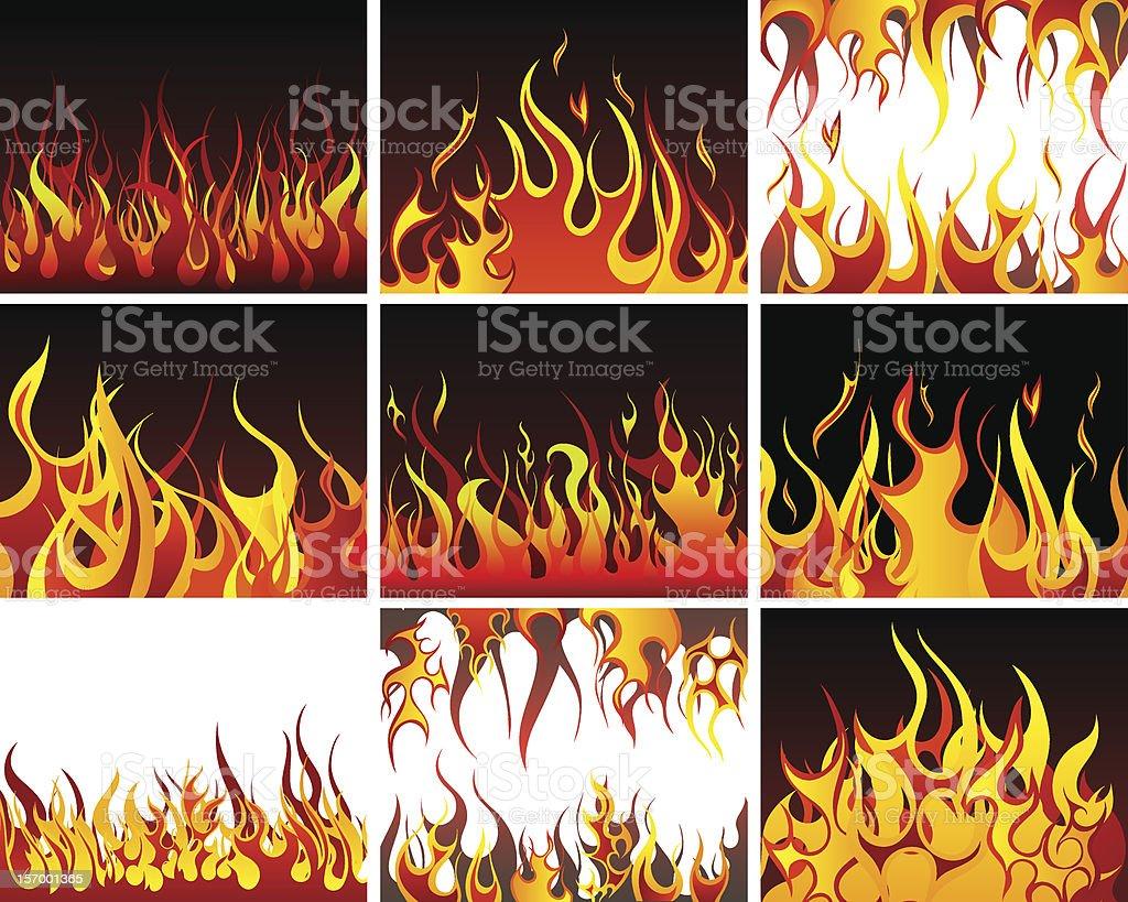 Fire Set royalty-free stock vector art