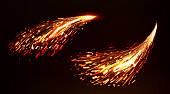 istock Fire sparks of metal welding, iron cutting 1219487207