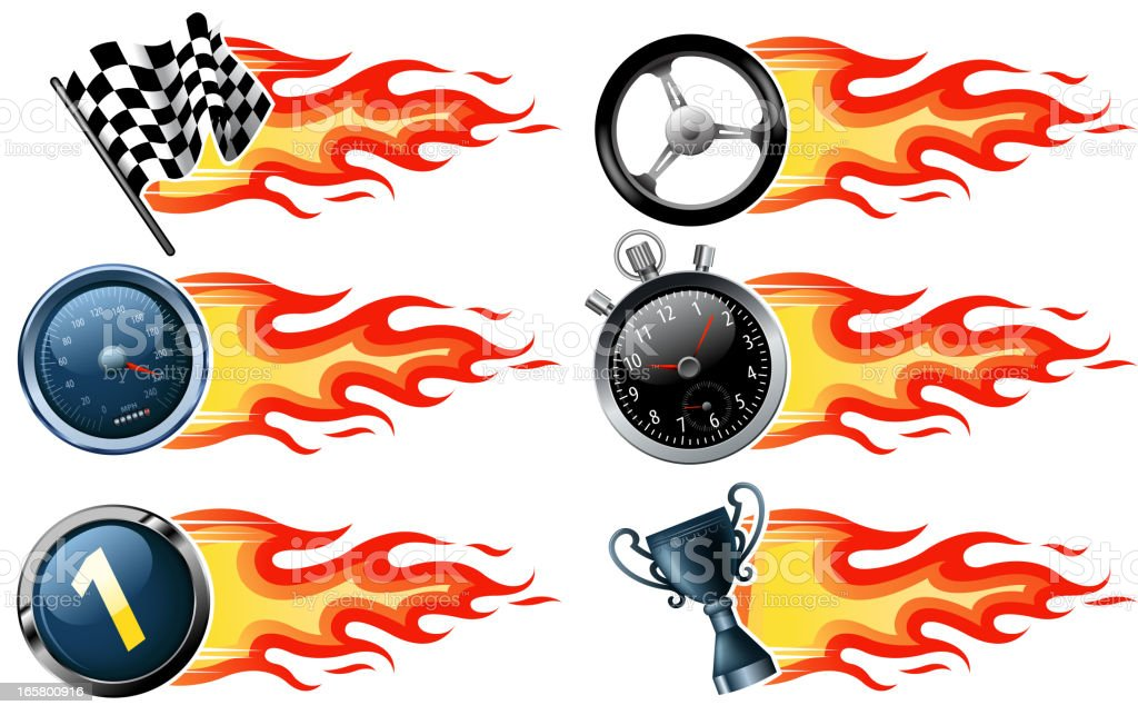 fire speed banners vector art illustration