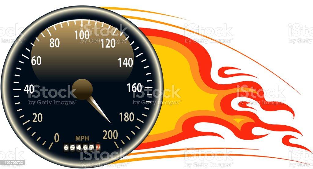 speedometer tachometer fuel and temperature gauge clip art, vector