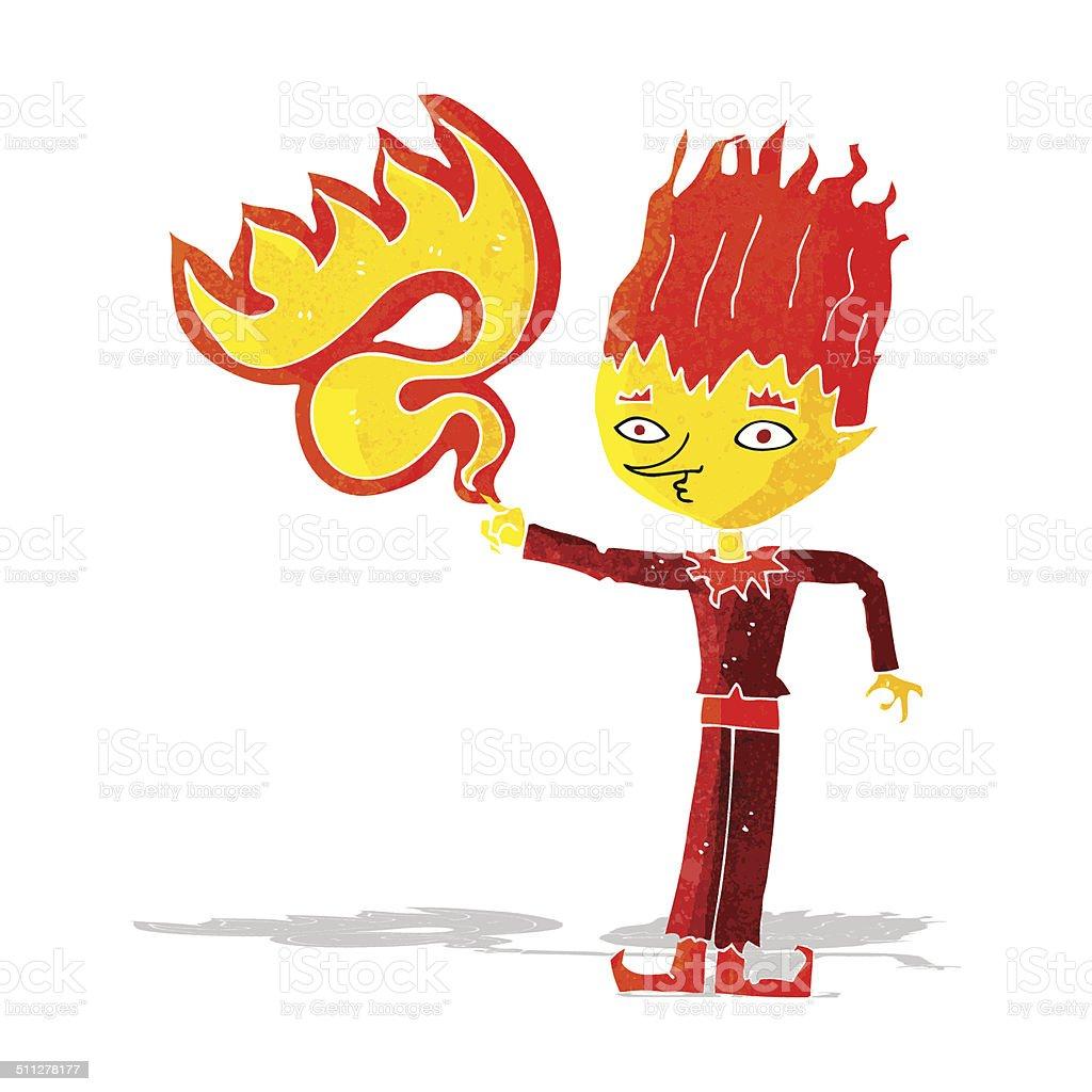 火災精神カットイラスト いたずら書きのベクターアート素材や画像を