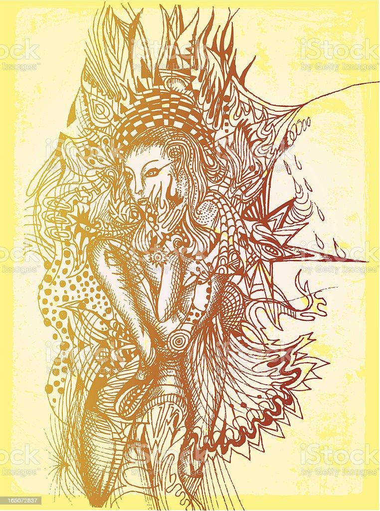 fire spirit royalty-free stock vector art