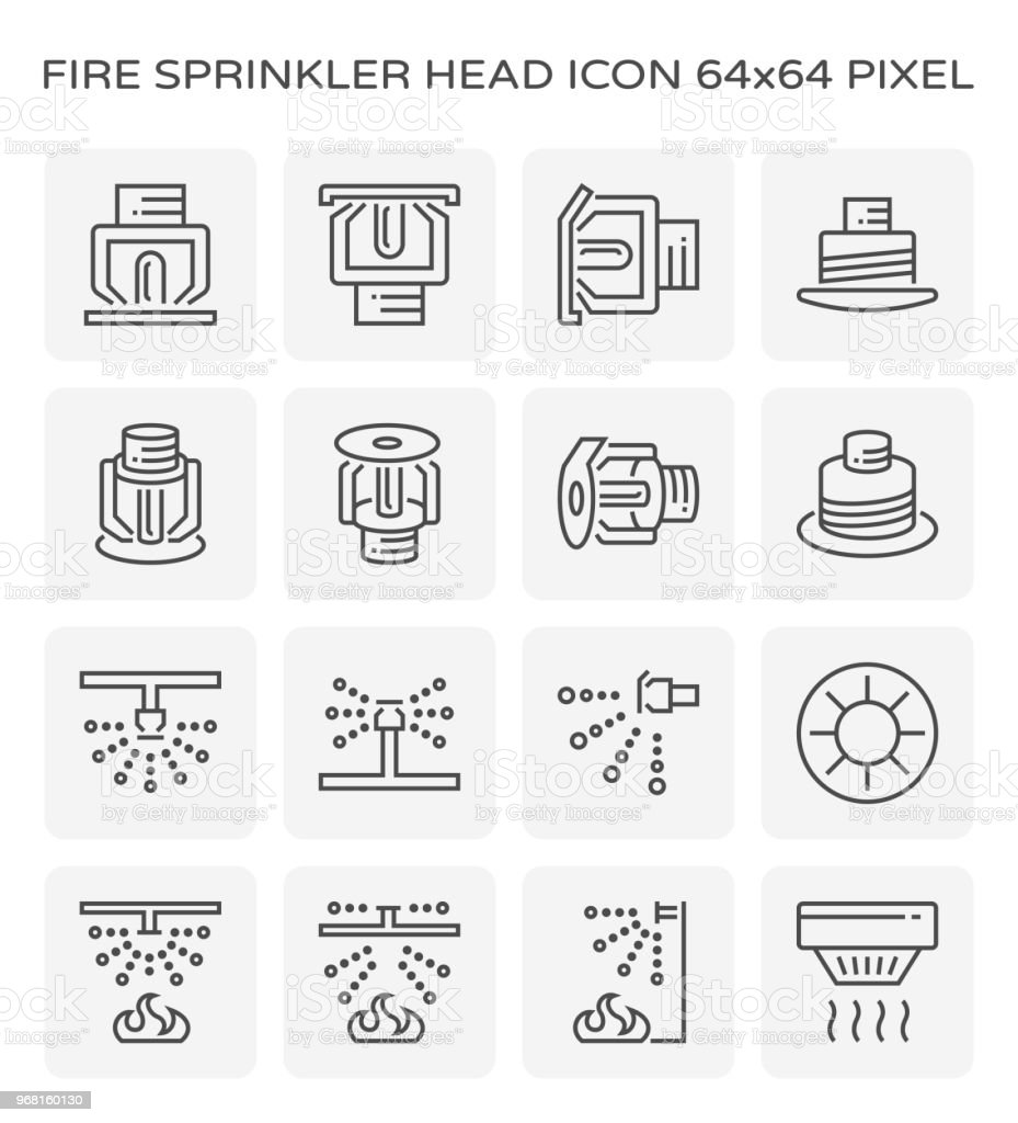 fire sprinkler icon vector art illustration
