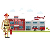 Fire station. Firefighter. Protection of life