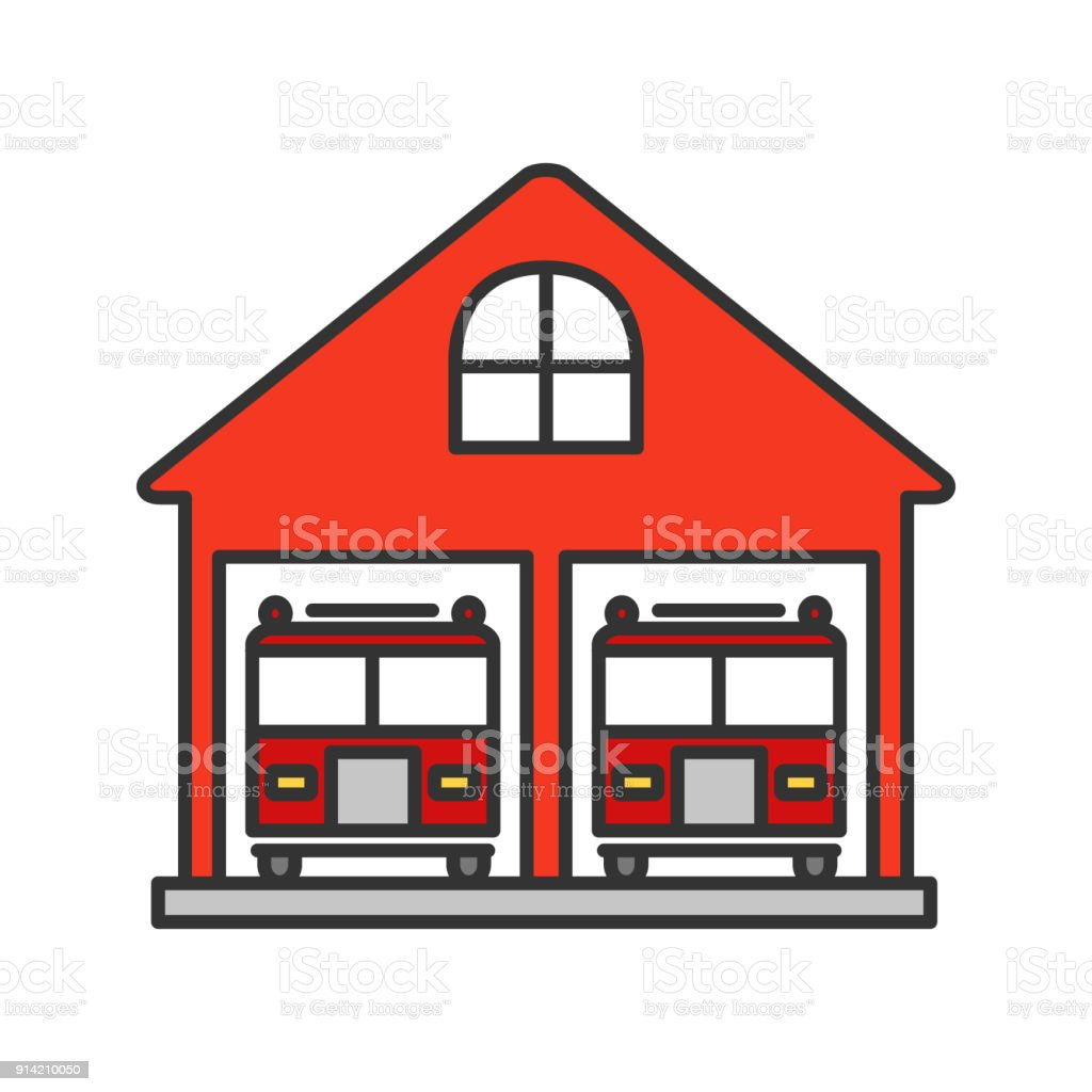 fire station icon stock vector art more images of being fired rh istockphoto com fire department clip art free fire department clip art black and white