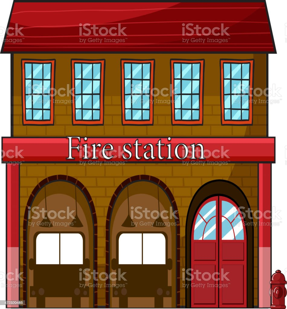 fire station royalty-free stock vector art