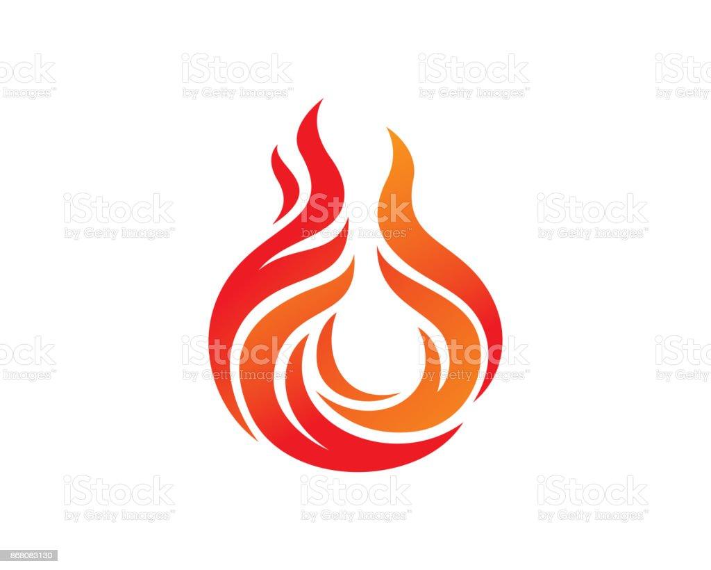 Vector de diseño de plantilla de símbolo, emblema, concepto de diseño, símbolo creativo, icono del fuego - ilustración de arte vectorial