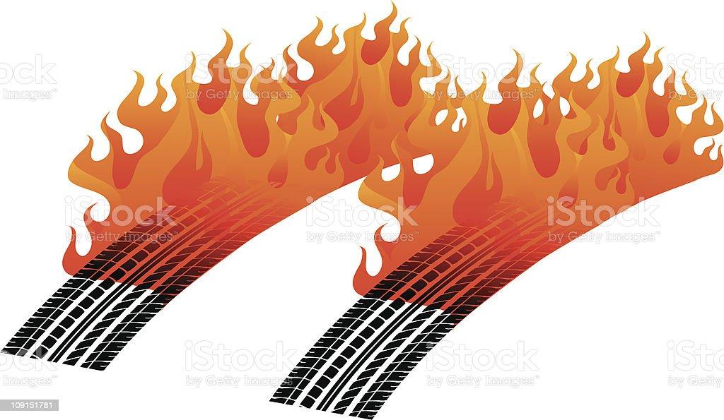 fire tread royalty-free stock vector art