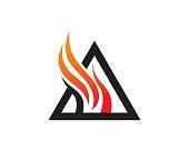 Fire Triangle Symbol Template Design Vector, Emblem, Design Concept, Creative Symbol, Icon