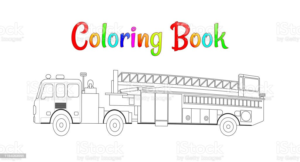 fire truck coloring book vector coloring pages for kids vector