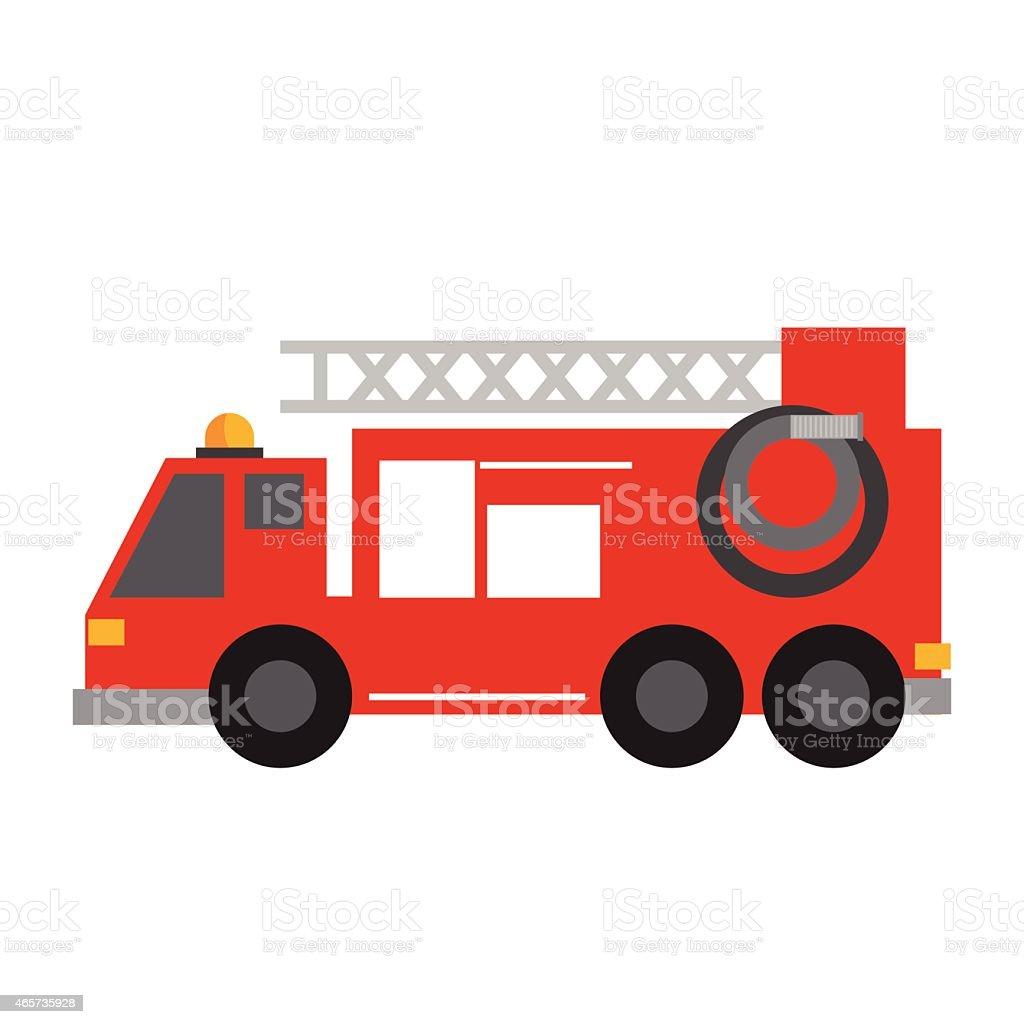 Fire truck icon vector art illustration