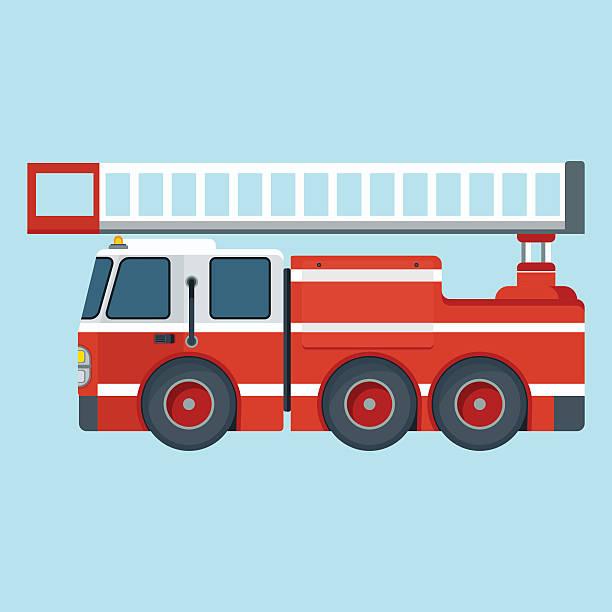 Feuerwehrauto Vektorgrafiken Und Illustrationen Istock