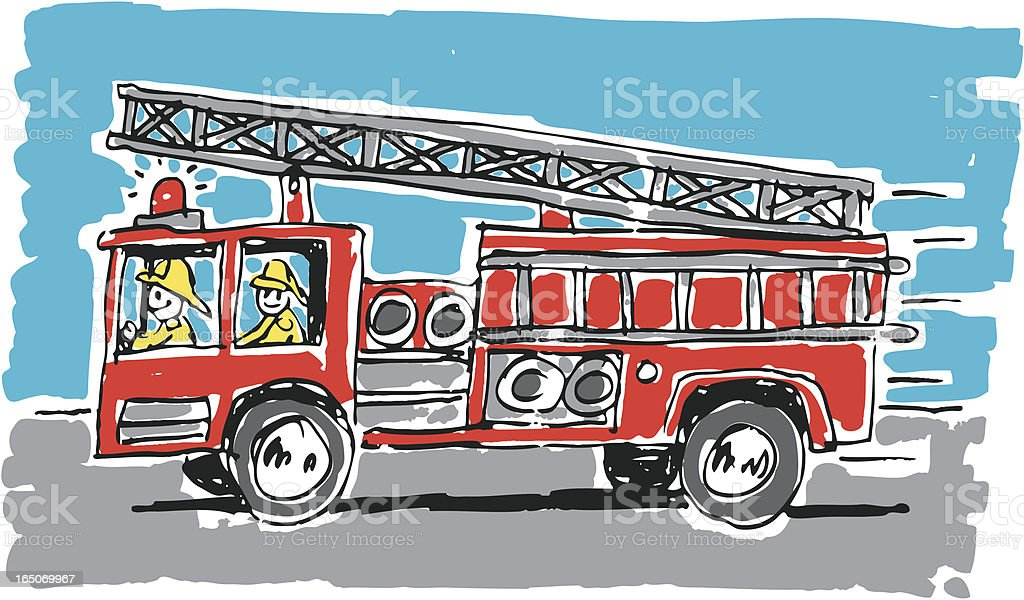 Fire Truck royalty-free stock vector art