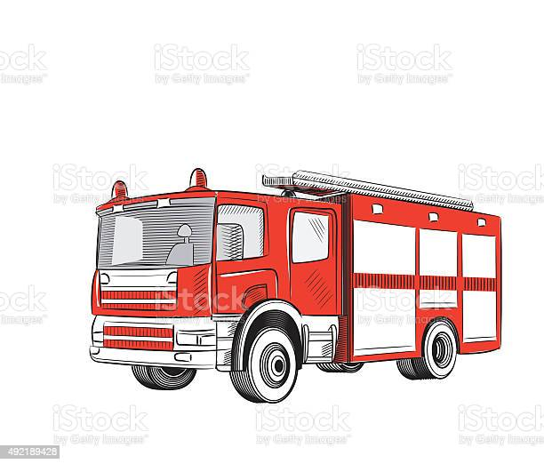 Fire Truck Stock Illustration Download Image Now Istock