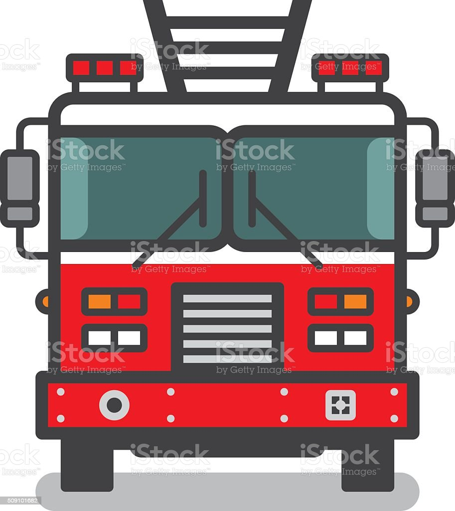 Fire truck vector art illustration