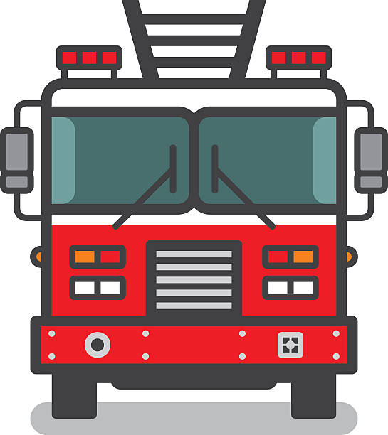 royalty free fire truck clip art vector images illustrations istock