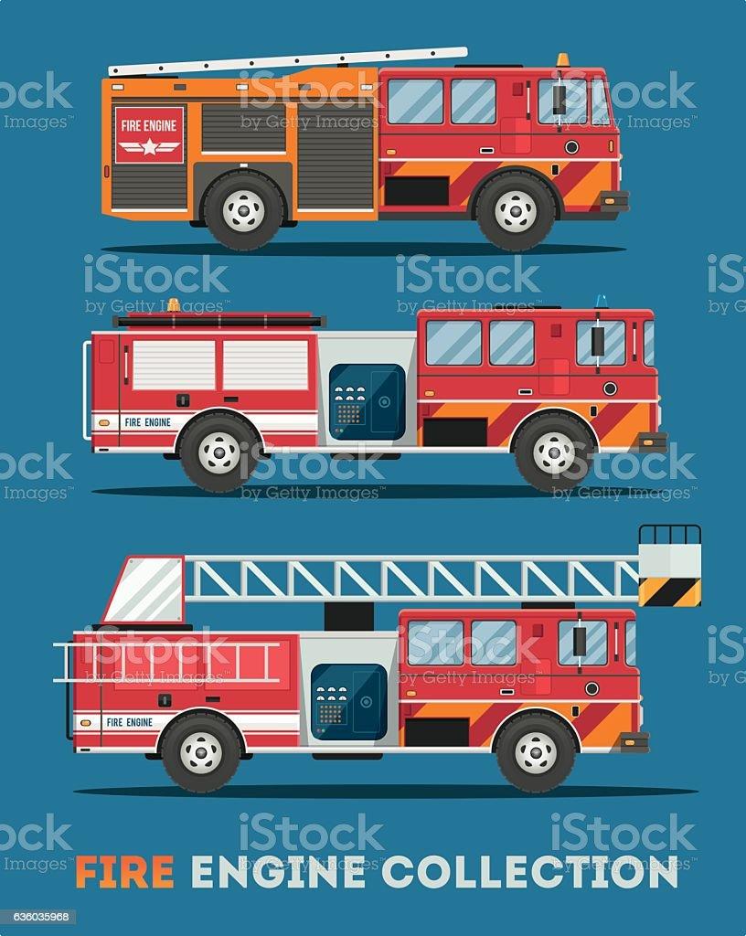 Fire Truck. vector art illustration