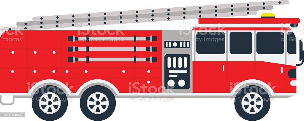 fire truck vector illustration stock vector art more images of rh istockphoto com fire engine vector fire engine vector free download