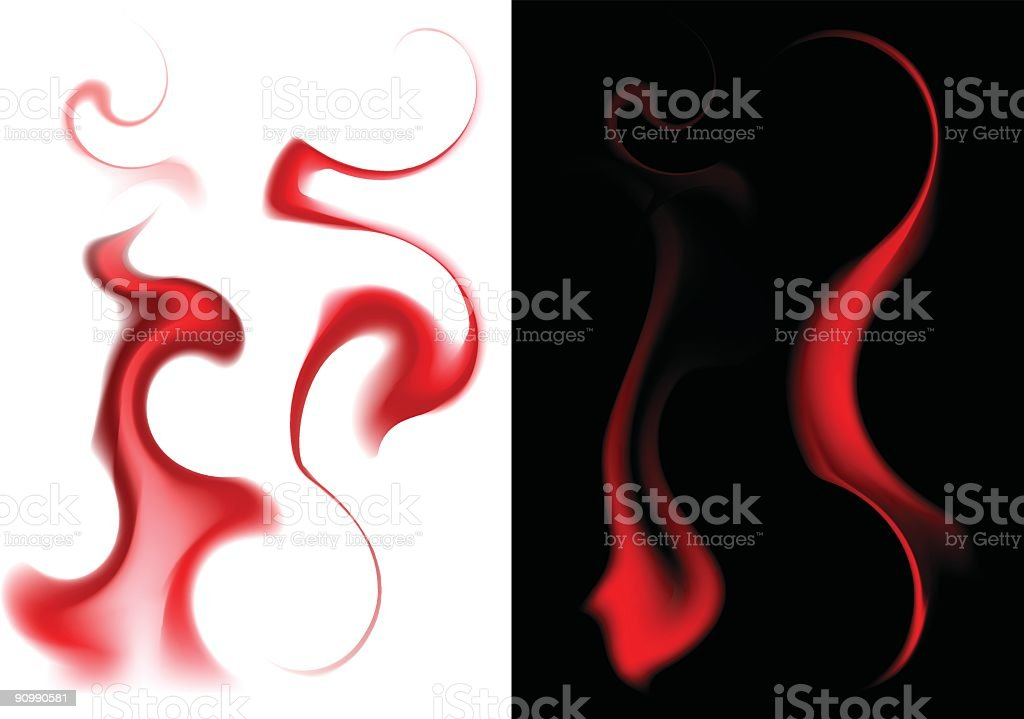 Fire (all four on black and white) royalty-free fire stock vector art & more images of color image