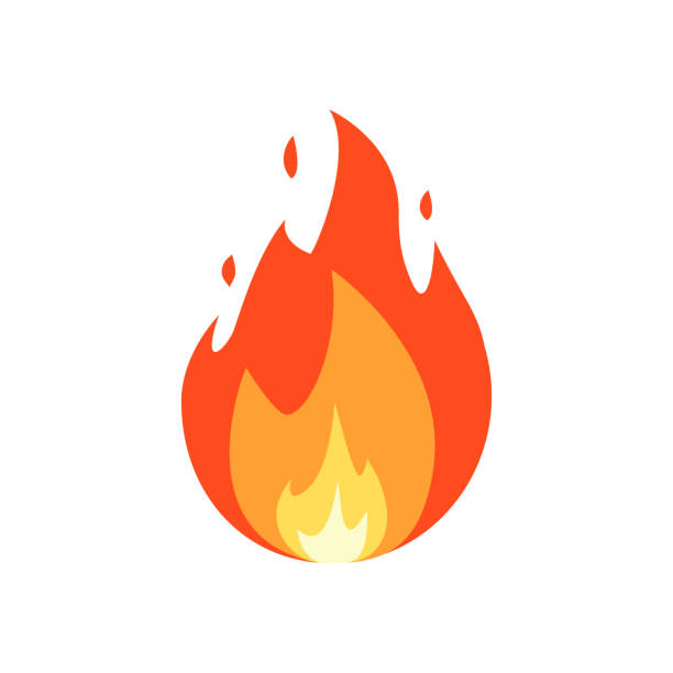 Fire vector isolated Fire vector isolated on white background. flame stock illustrations