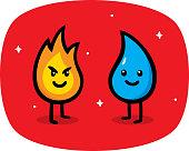 istock Fire vs Water Doodle 1314087469