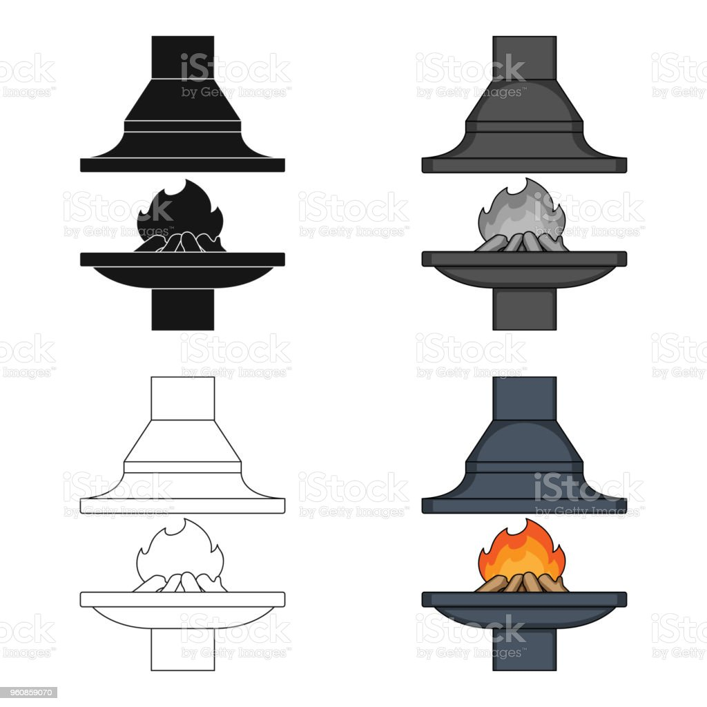 Fire Warmth And Comfort Fireplace Single Icon In Cartoon Style