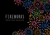 istock Fire works watercolor 1202837146