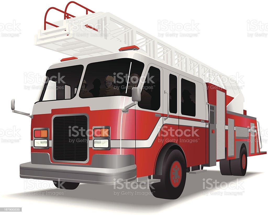 Fire_truck vector art illustration